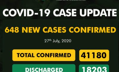 648 new cases of COVID-19 recorded in Nigeria