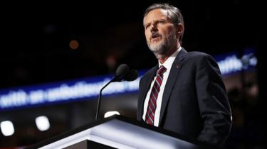 Jerry Falwell Jr, former president of Liberty University