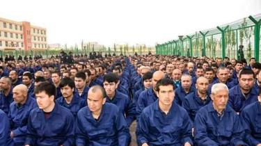 It is thought that a million people have been detained in camps in Xinjiang, China