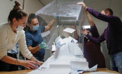 Vote counting in Tomsk