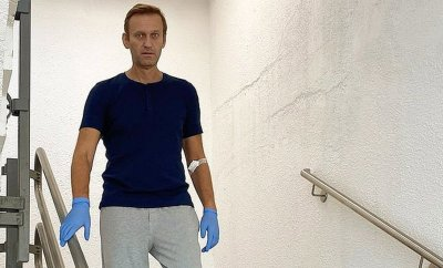 Alexei Navalny pictured at a hospital in Berlin. 22 Sept 2020