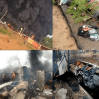Many Persons Including Primary School Students Burnt To Death in A Petrol Tanker Explosion in Lokoja, Kogi State [Graphic]