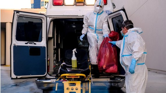 Memorial West Hospital where coronavirus disease patients are treated, in Pembroke Pines, Florida, July 13, 2020
