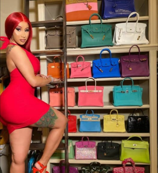 Offset reacts as Cardi B shows off her designer bag collection
