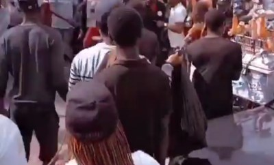 Moment Pasuma was booed and dragged out of #EndSARS protest in Lagos (videos)