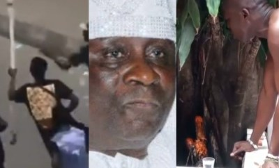 Traditional priests in Lagos rain curses on men who stormed the Oba of Lagos palace and stole his staff of office (video)