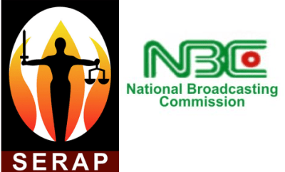 "SERAP threatens to sue NBC for imposing ""illegal fines of N9m"" on Channels TV, AIT, and Arise TV over coverage of #EndSARS protests."