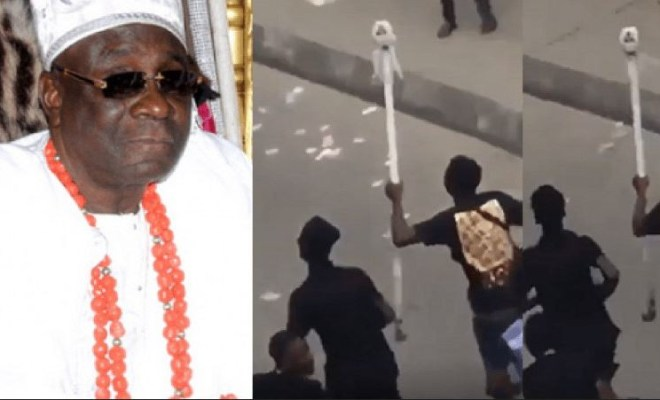 Oba of Lagos? staff of office mysteriously reappears (video)