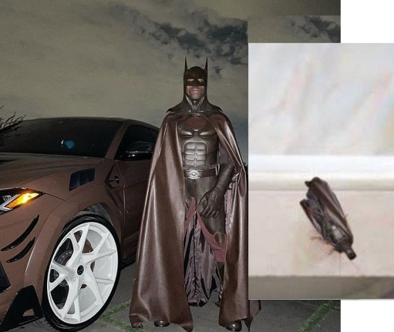 """Travis Scott deactivates his Instagram after fans compared him to a """"cockroach"""" over his Batman costume for Halloween"""