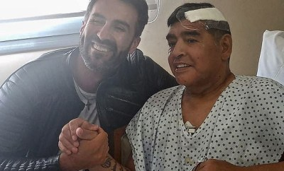 Diego Maradona released from hospital after successful surgery to remove a blood clot from his brain (photos)