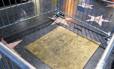 Donald Trump?s Hollywood Walk of Fame star caged and boarded up after being repeatedly vandalized for years (Photos)