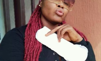 """""""I am happy 2020 flow has finished""""- Nigerian woman poses with sanitary pad to celebrate her last menstrual period for the year"""