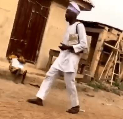 Hilarious! Ahead of Valentines day, evangelist goes about a community in Ogun to warn of the