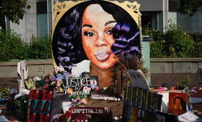 memorial for Breonna Taylor in Louisville