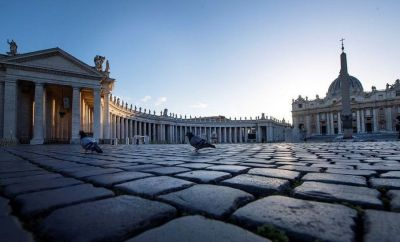 A general view of the Vatican's Saint Peter's Square. March 2020