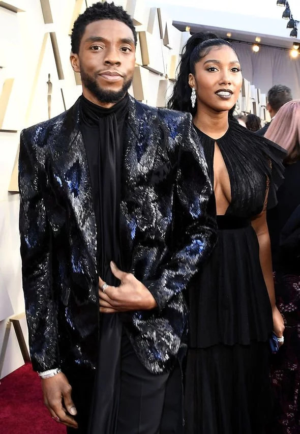 Chadwick Boseman?s wife, Simone Ledward  fights back tears as she accepts his award at the Golden Globes?(video)