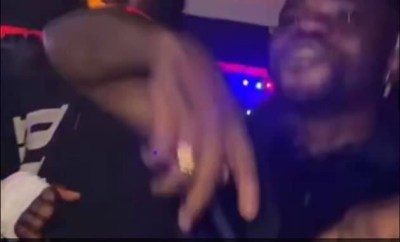 Burna boy celebrates his Grammy win at a club with his friends (video)