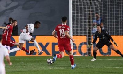 Vinicius Junior scores for Real Madrid