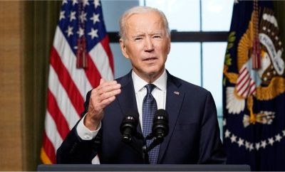 US President Joe Biden speaks from the Treaty Room in the White House, in Washington, DC, USA, on 14 April 2021, about the withdrawal of the remainder of US troops from Afghanistan.