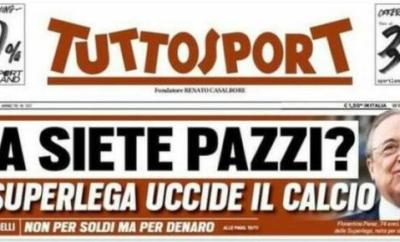 'Are you insane?' reads the not so subtle Tuttosport headline on Monday