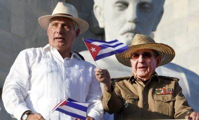 Miguel Díaz-Canel and Raúl Castro