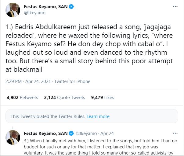 Twitter deletes some of Festus Keyamo