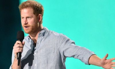 Prince Harry speaking at Vax Live