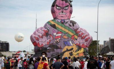 A protest against Jair Bolsonaro in Brasilia, Brazil, 29 May 2021