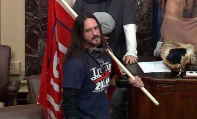 Paul Hodgkins inside the US Capitol, 6 January 2021