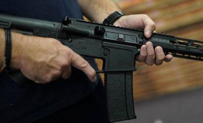 An AR-15 at a New York gunshop