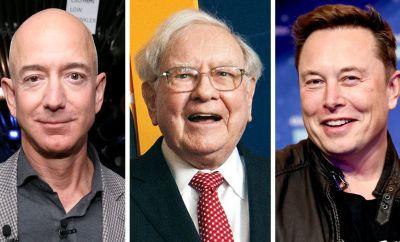 Jeff Bezos, Warren Buffet and Elon Musk