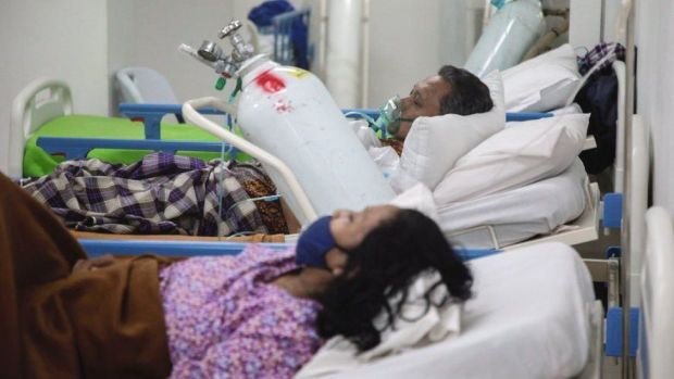 Patients in a hospital