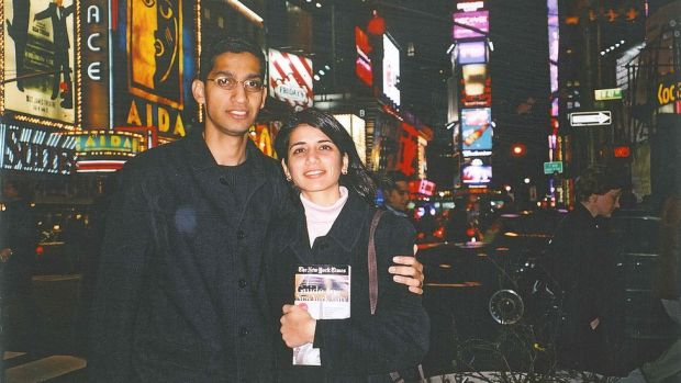 Sundar Pichai and his girlfriend Anjali soon after arriving in the US. The pair would later marry