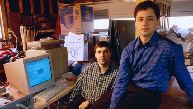 Founders Larry Page and Sergey Brin started Google in a garage in 1998, Sundar Pichai joined them six years later