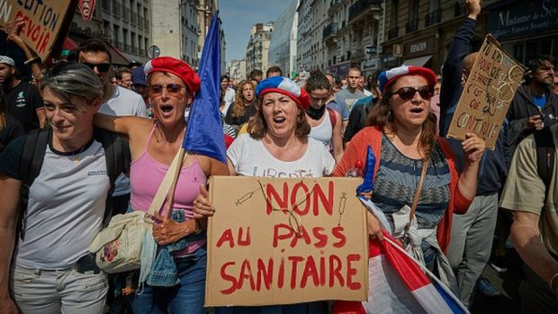 Against the Covid pass in Paris, 17 July