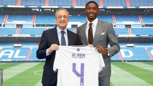 David Alaba and Florentino Perez