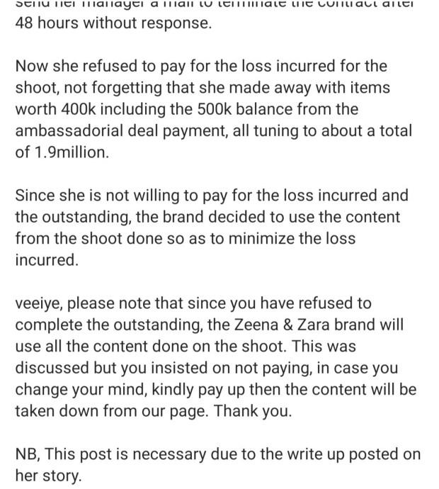"""Pay up"" Clothing line accuses BBNaija"