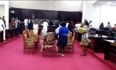 Gunshots ring out in Imo State House of Assembly over suspension of lawmakers (video)