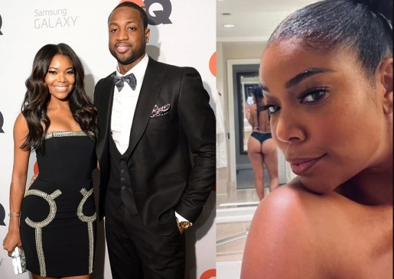 Dwyane Wade shares topless photo of wife Gabrielle Union with her backside on display, says