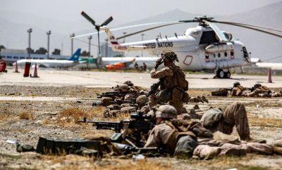 US troops at Kabul airport