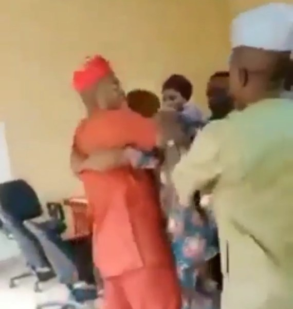 New councilors of Agbado/Oke-Odo LCDA fight over electing principal officers among themselves (video)