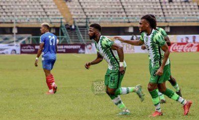 2022 W/Cup Qualifiers: Kelechi Iheanacho scores twice against Liberia as Super Eagles top Group C (videos)