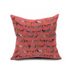 Cheap Fabric Sofa Singapore Danish Modern Ebay Deer Design Animal Decorative Pillow Covers 18x18,colorful ...