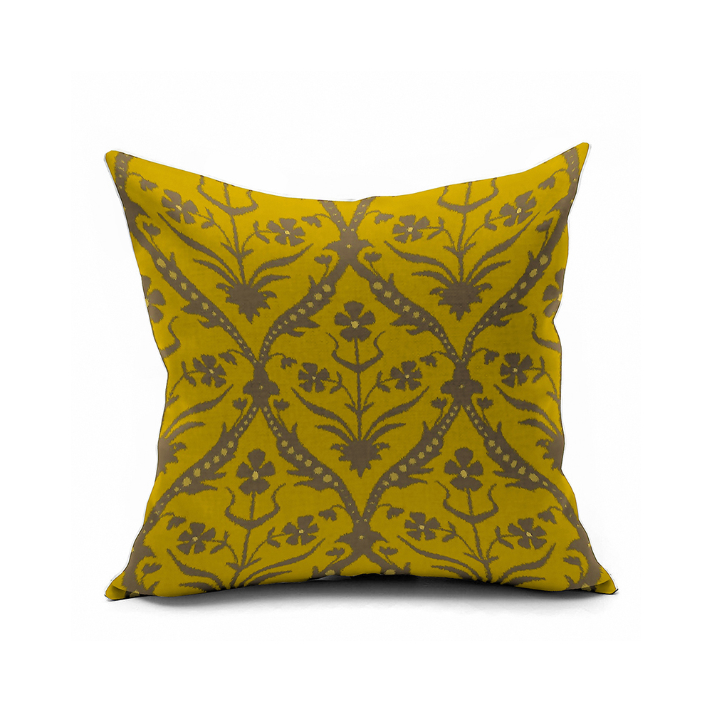 Yellow Vintage Floral PillowsMorocco Accent Pillow Covers
