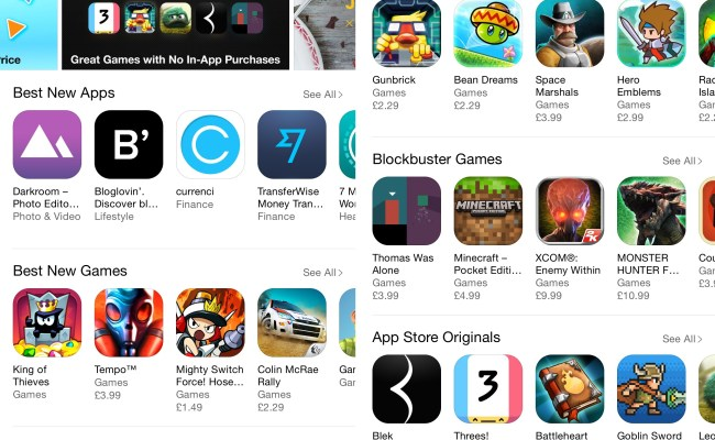 Apple Promoting Great Games With No In App Purchases On