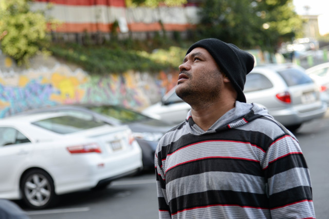 Adan Lobo, who has lost his home on Hampshire St. , is now living in a van