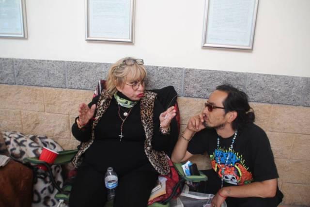 Guttierrez speaks to her son Sato after Mayor Lee's visit