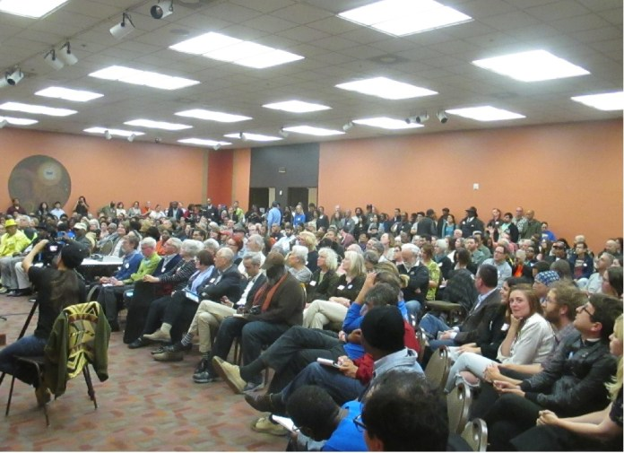 A packed house demonstrates the interest in this race