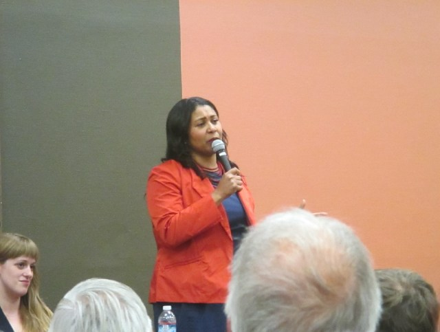 Why is Sup. London Breed talking like a conservative against income taxes?