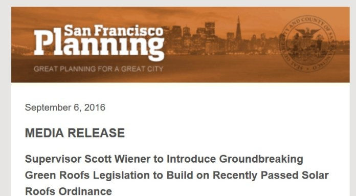 Since when does City Planning do PR for politicians?